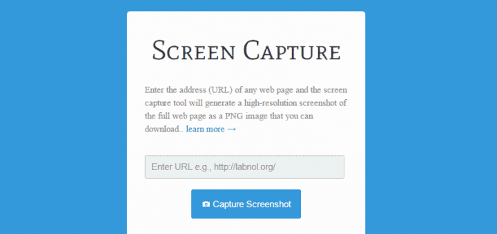 screenshot of a whole web page