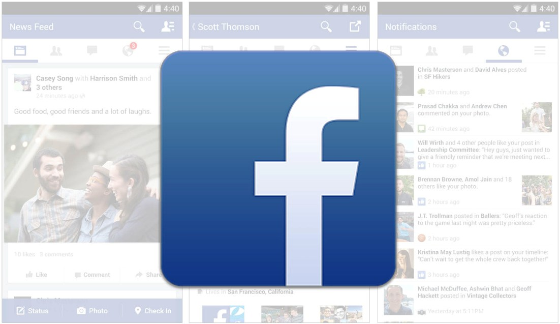 application pour android facebook
