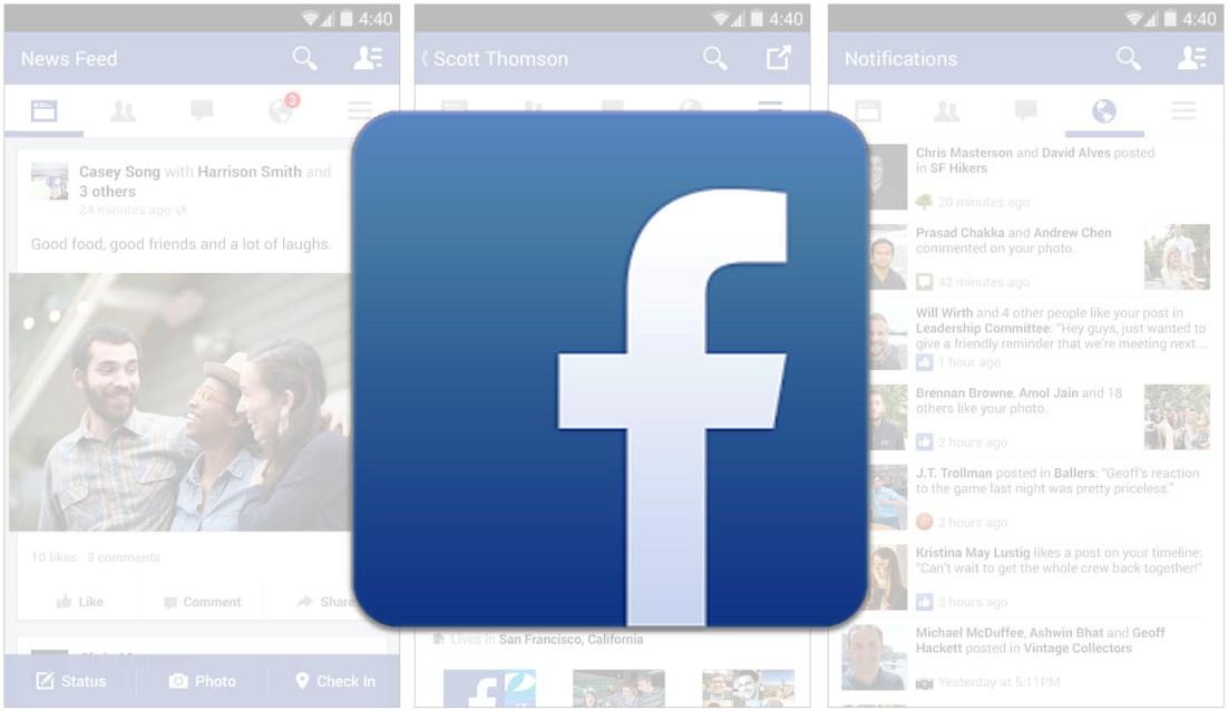 Facebook application