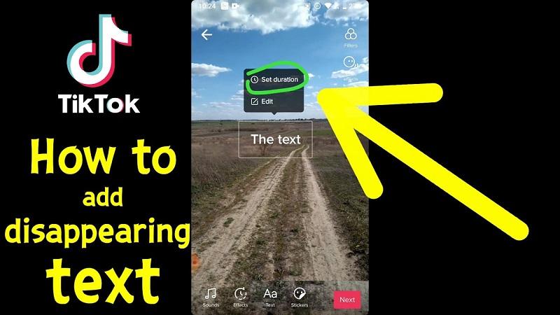 How to add text to Tiktok